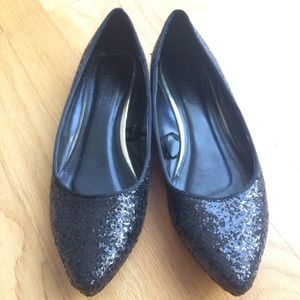 Forever 21 Glitter Pointed Flats